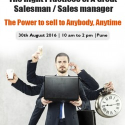 The Right Practices of a Great Salesman - Sales manager - Pune